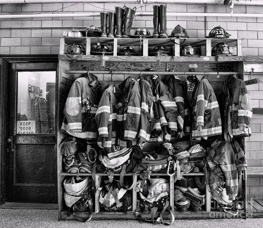 Fireman photograph fireman jackets helmets and boots by paul ward
