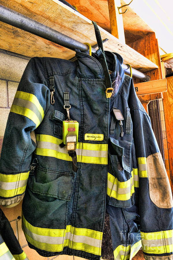 Fireman Photograph - Fireman - Saftey Jacket by Paul Ward
