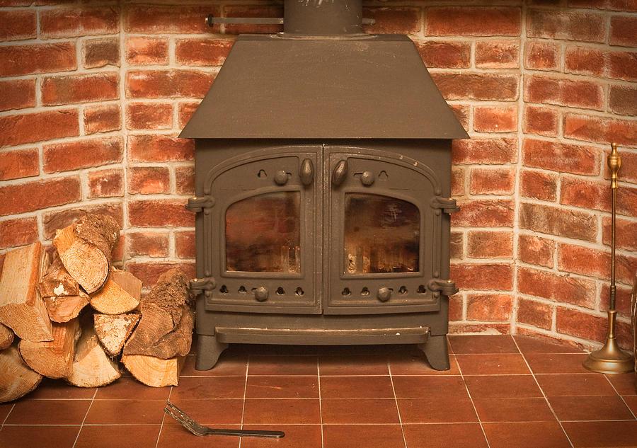 Autumn Photograph - Fireplace by Tom Gowanlock