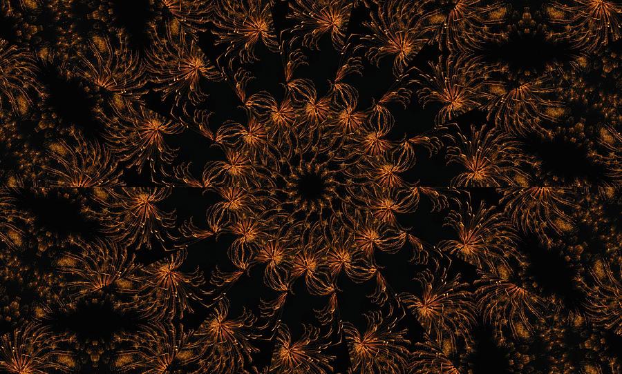 Mandala Digital Art - Firestorm 6 by Rhonda Barrett