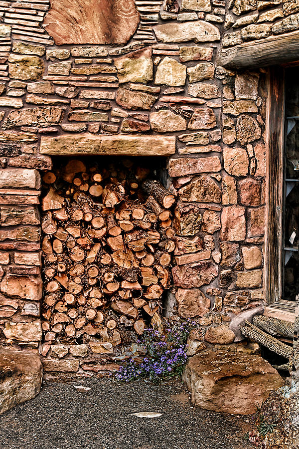 Wood Shed Photograph - Firewood by Tom Prendergast