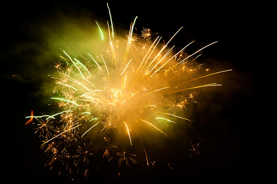 Horizontal Photograph - Firework Display At New Years Eve by Olaf Broders