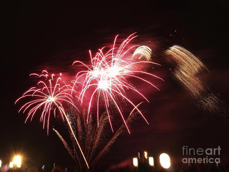 Bright Photograph - Firework Display by Bernard Jaubert