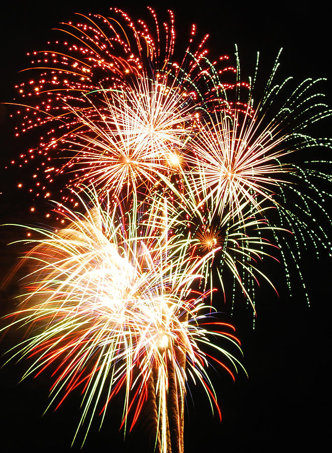 Fireworks Photograph - Fireworks 1569 by Michael Peychich