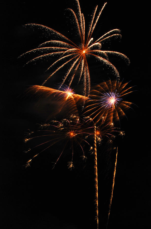 Fireworks Photograph - Fireworks 1580 by Michael Peychich