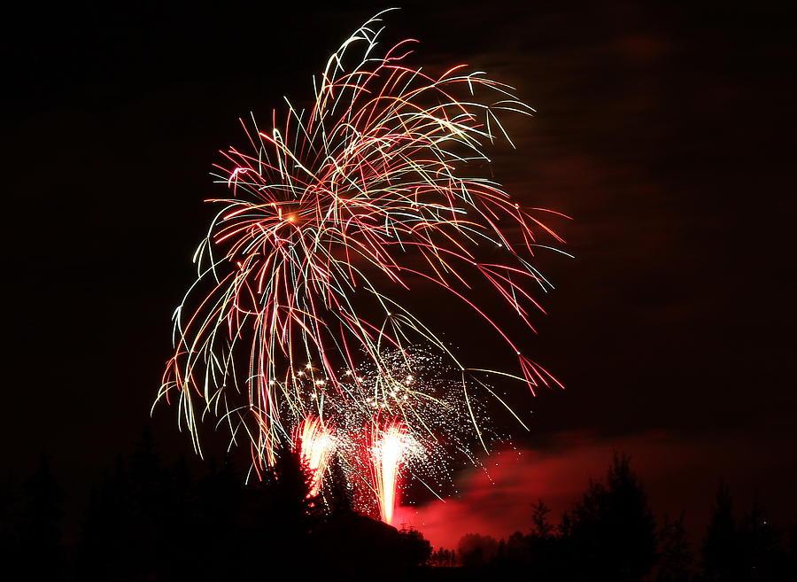 Fireworks Photograph - Fireworks 4 by Donna Barker