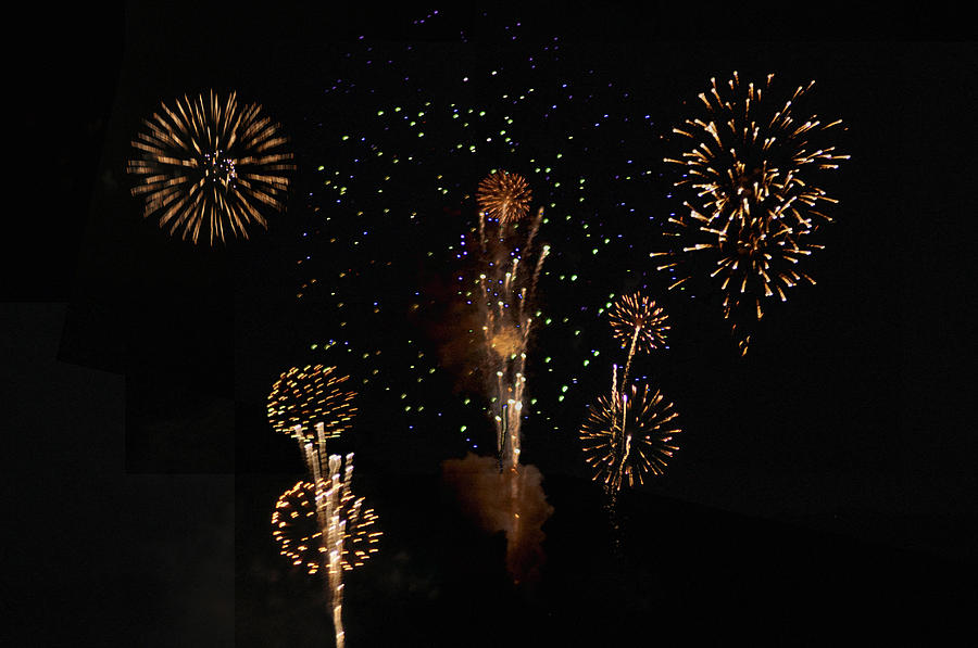 Fireworks Photograph - Fireworks by Bill Cannon