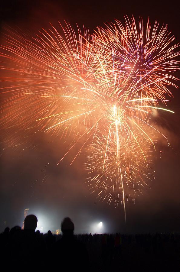 Human Photograph - Fireworks Display by Cordelia Molloy