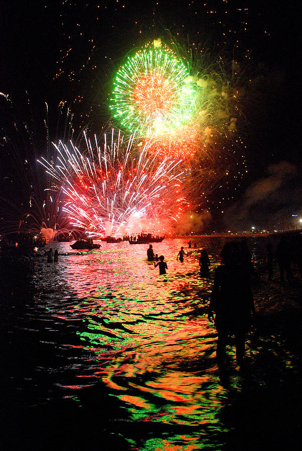 Spain Photograph - Fireworks On The Beach by Perry Van Munster