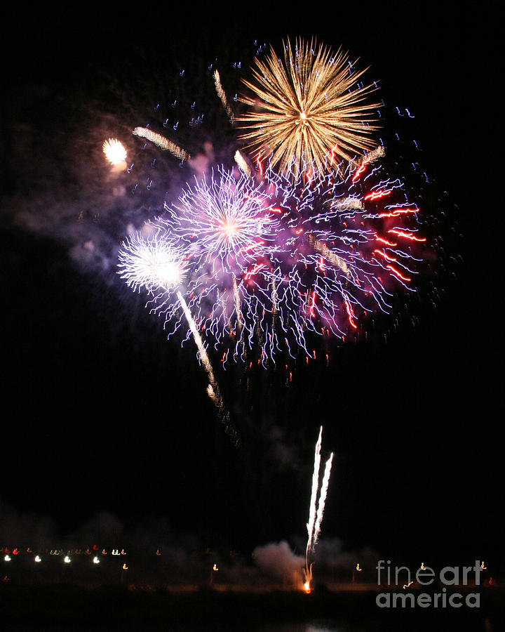 4th Of July Laughlin Trip 2012 Photograph - Fireworks Over The River by Kenny Bosak