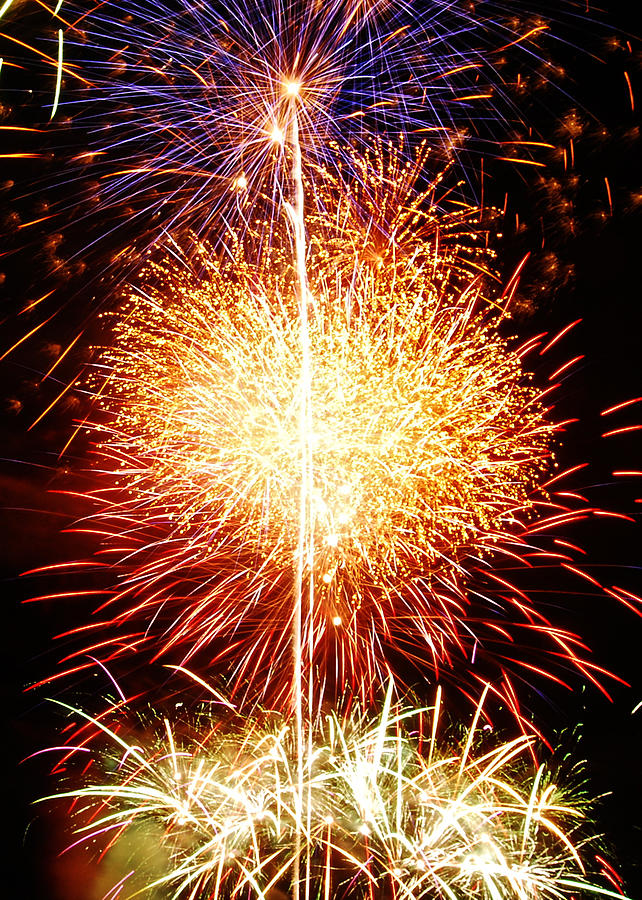 Fireworks Photograph - Fireworks_1591 by Michael Peychich