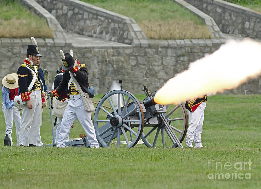War Of 1812 Photograph - Firing Cannon by JT Lewis