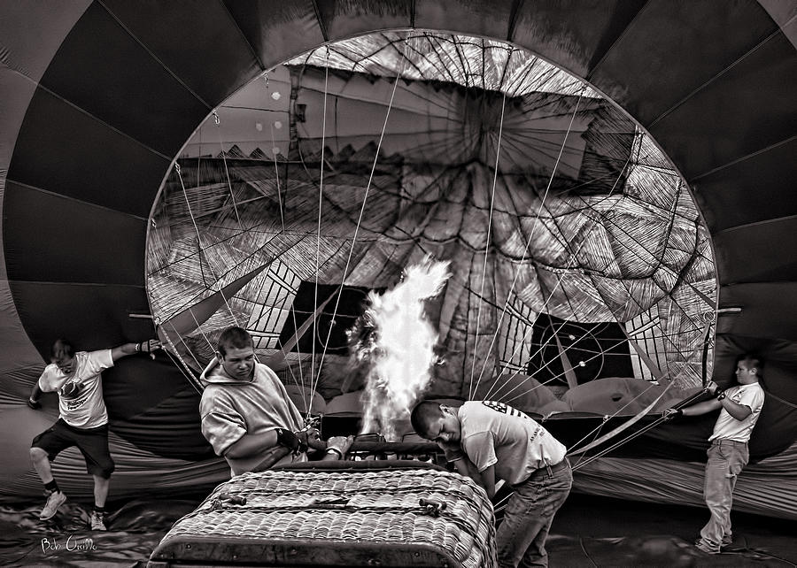 Hot Air Balloon Photograph - Firing The Burners by Bob Orsillo