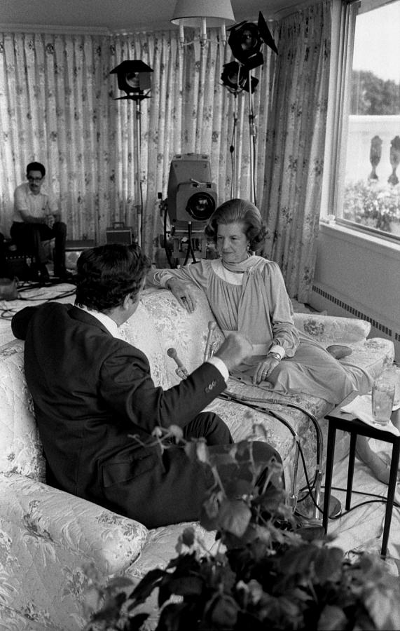 History Photograph - First Lady Betty Fords Interview by Everett