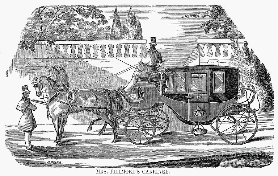1851 Photograph - First Lady Carriage, 1851 by Granger