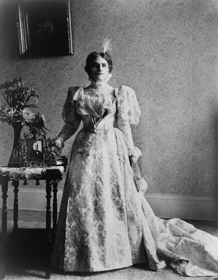 1890's Photograph - First Lady, Ida Saxton  Mckinley by Everett
