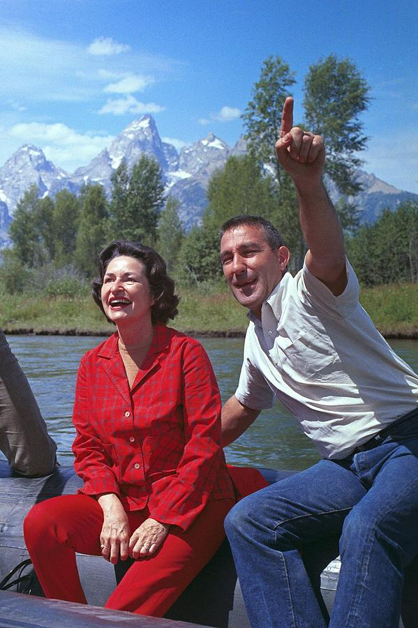 History Photograph - First Lady, Lady Bird Johnson, Rafting by Everett