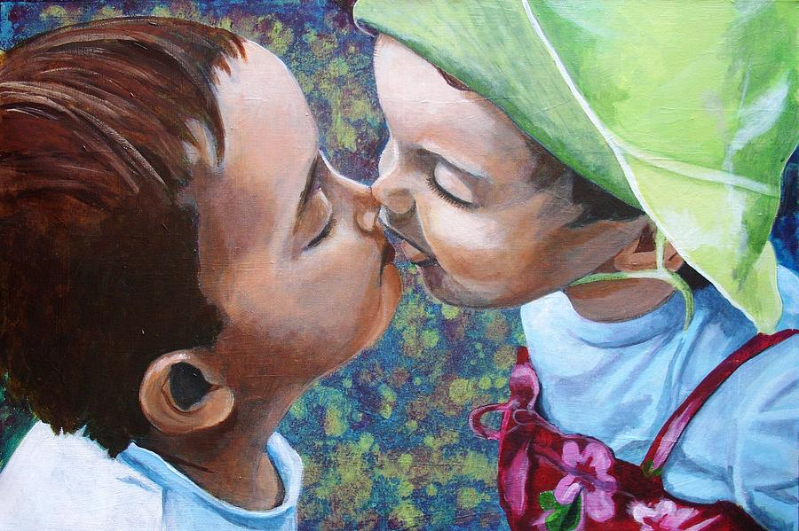 Children Painting - First Love by Jacqui Simpson