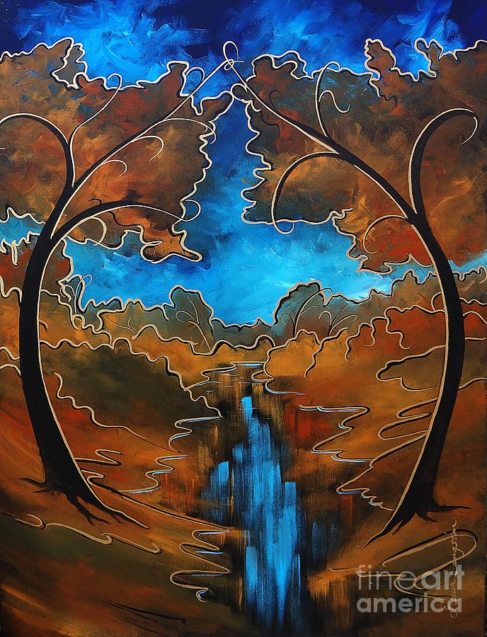 Tree Painting - First  Love by Steven Lebron Langston