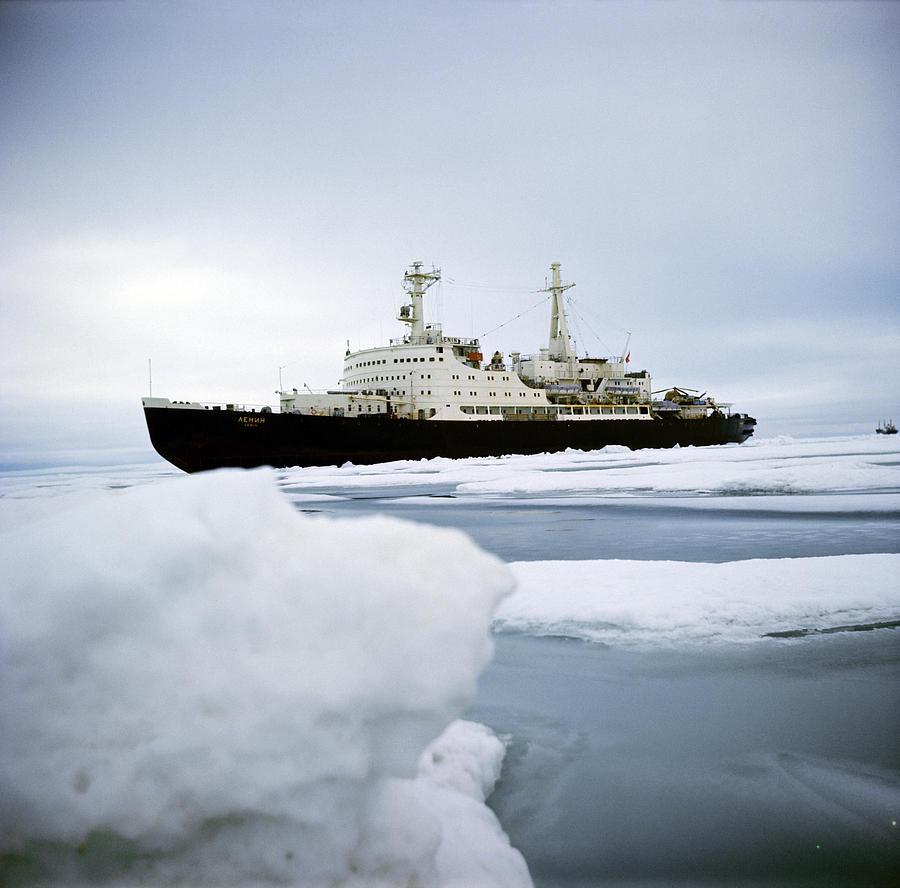 Lenin Photograph - First Nuclear-powered Ship, Ns Lenin by Ria Novosti