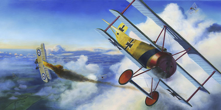 Biplane Painting - First Of Three by David Gorski