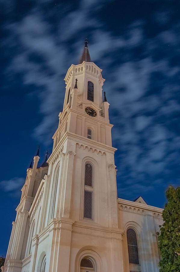Church Photograph - First Presbyterian An Night by Brian Parton