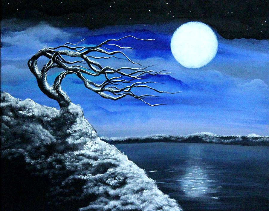 Snow Painting - First Snow by Angie Phillips