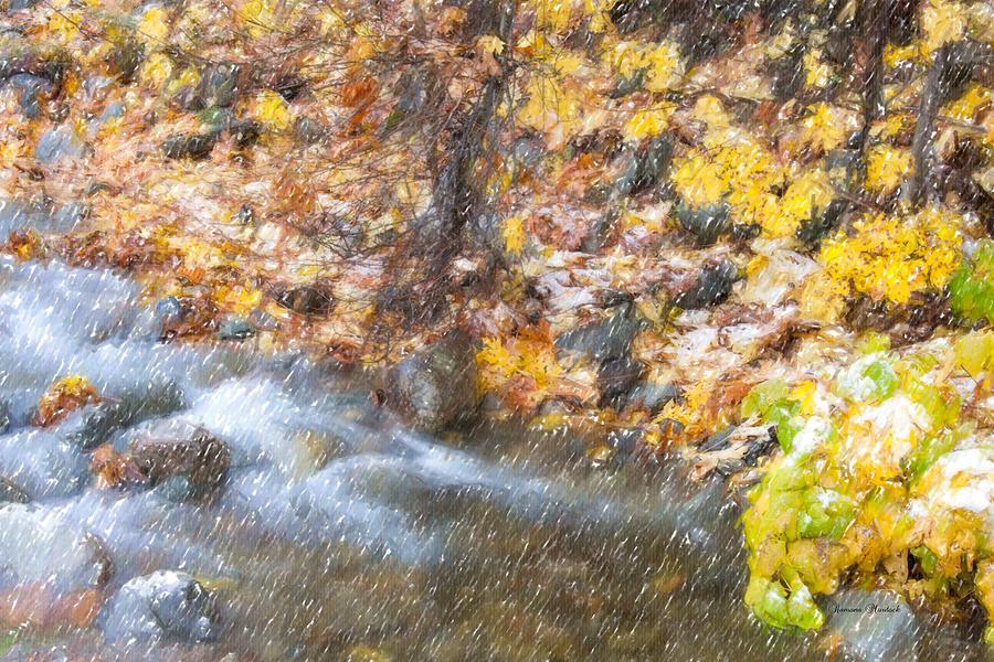 Fall Photograph - First Snow by Ramona Murdock