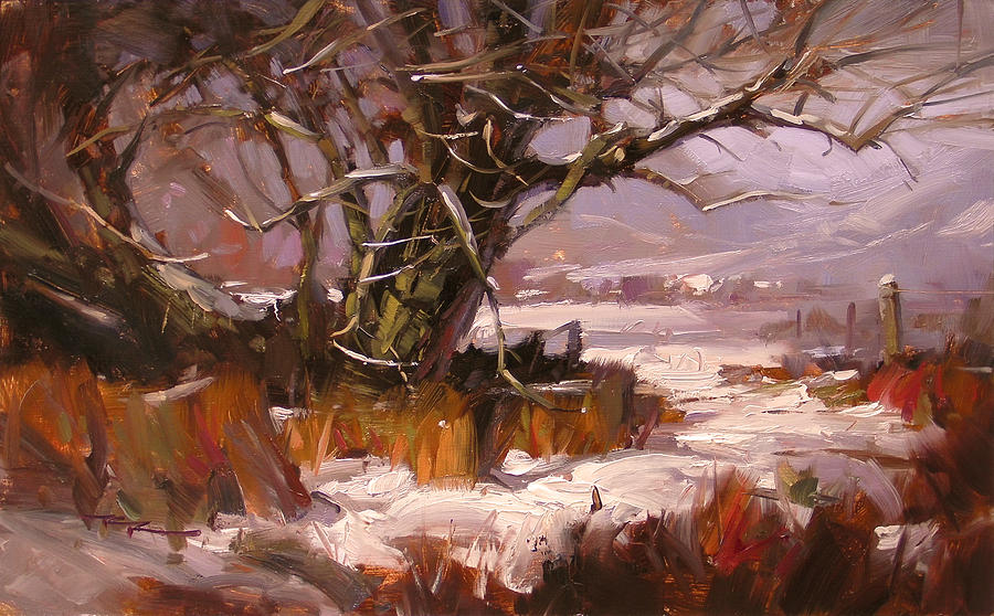 Snow Painting - First Snow by Richard Robinson
