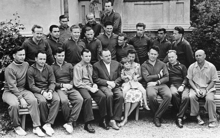 Alexei Leonov Photograph - First Soviet Cosmonaut Squad, 1961 by Ria Novosti