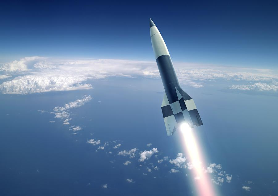 A-4 Photograph - First V-2 Rocket Launch, Artwork by Detlev Van Ravenswaay