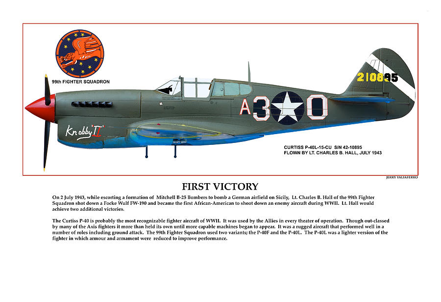Aviation Digital Art - First Victory by Jerry Taliaferro