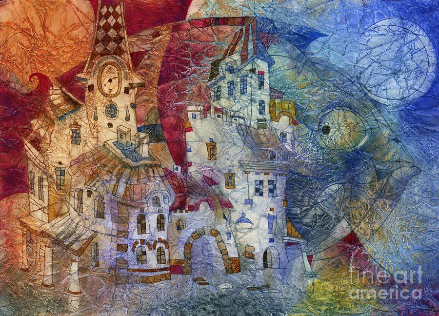 Fish -  Moon  Mixed Media by Svetlana and Sabir Gadghievs