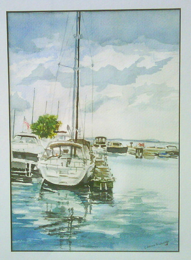 Waterscape Painting - Fish Creek Harbor by Laurel Fredericks