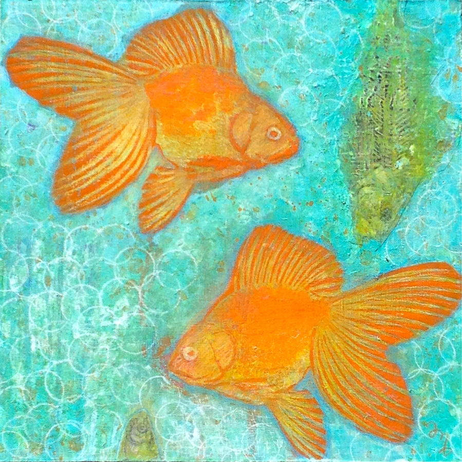 Goldfish Painting - Fish For Free by Micki  Moss