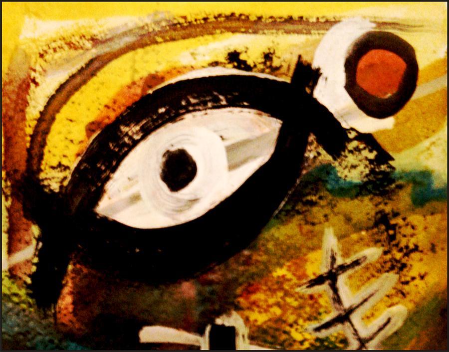 Fish Hidden In The Eye Mixed Media by Branko Jovanovic