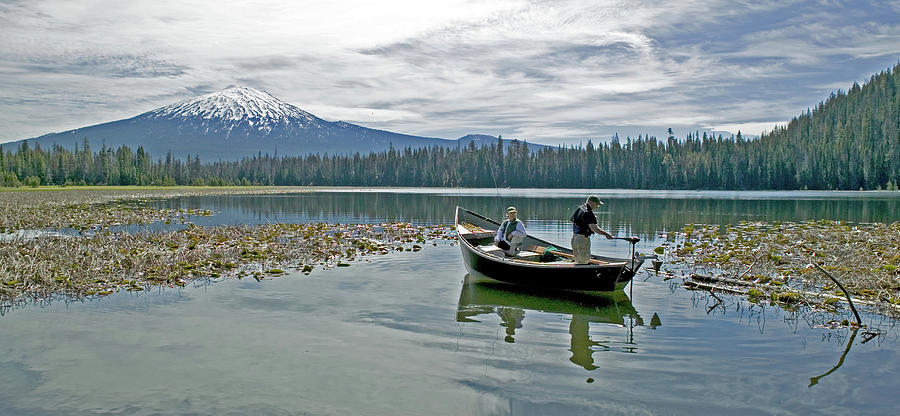 Drift Boat Photograph - Fish On by Earl Berg