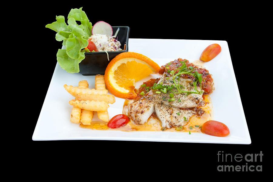 Appetizing Photograph - Fish Steak by Atiketta Sangasaeng