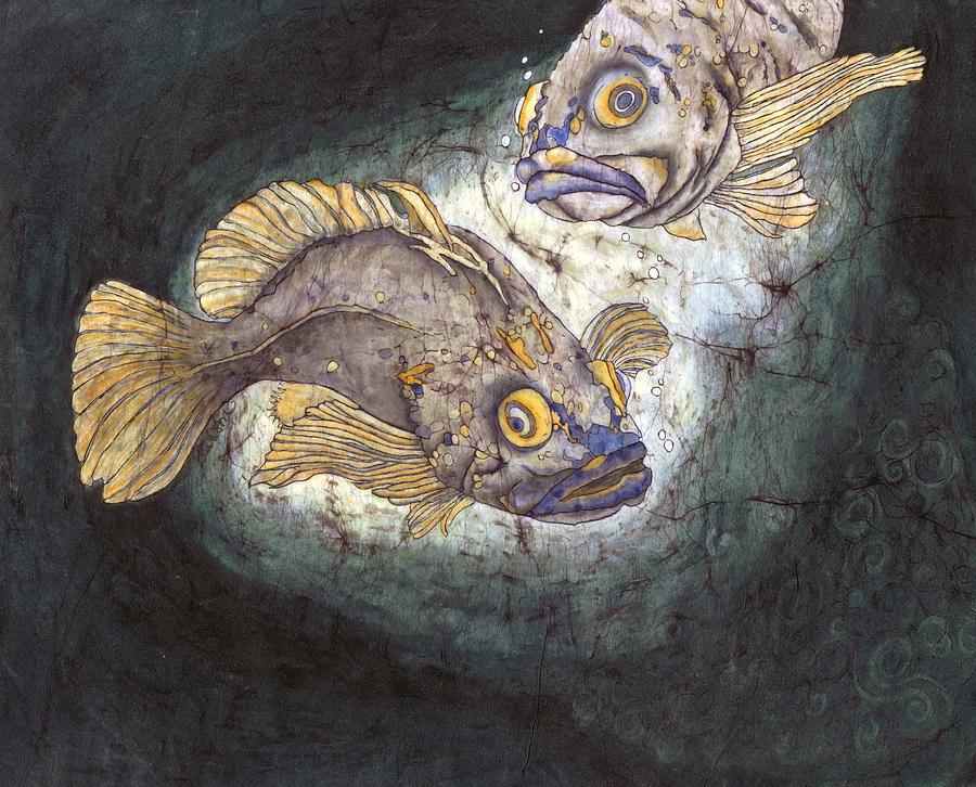 Nature Painting - Fish Tales by Shari Carlson
