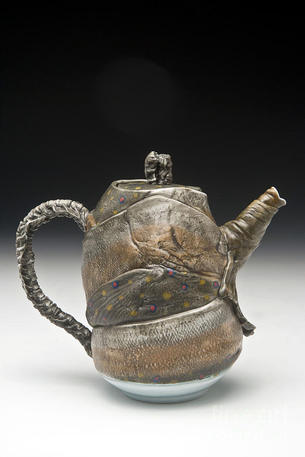 Water Sculpture - Fish Teapot by Mark Chuck