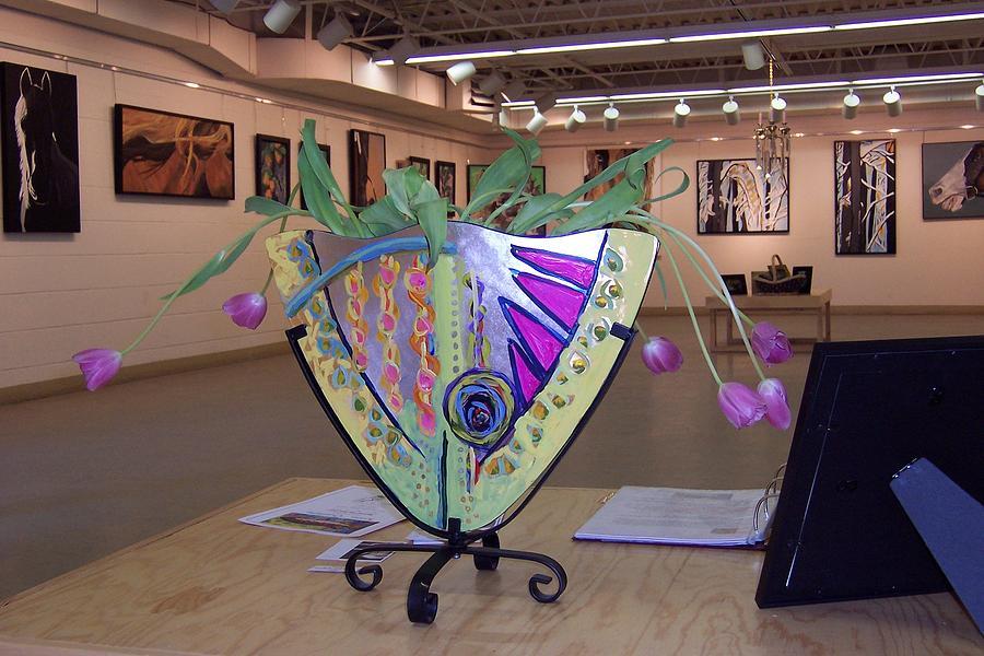 Vase Sculpture - Fish Vase by Krista Ouellette