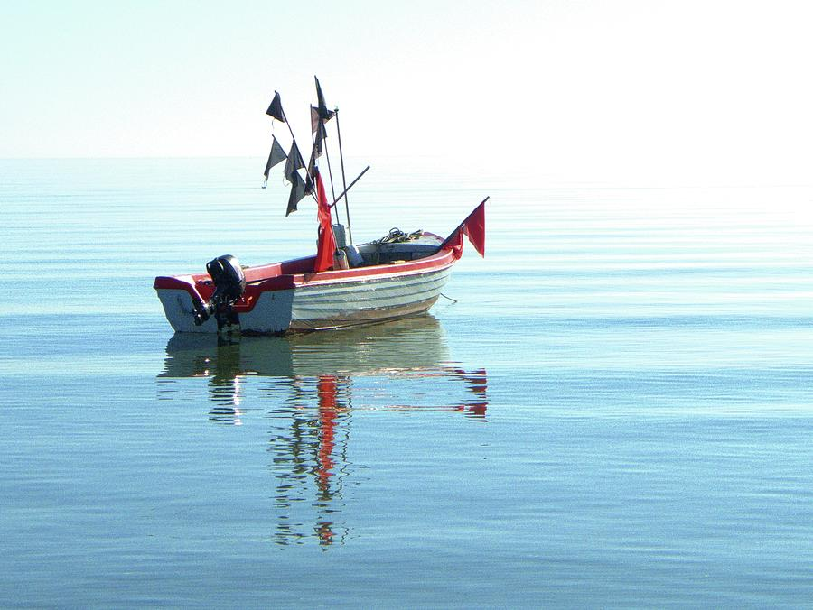 Horizontal Photograph - Fisher-boat In Baltic Sea by Km-foto