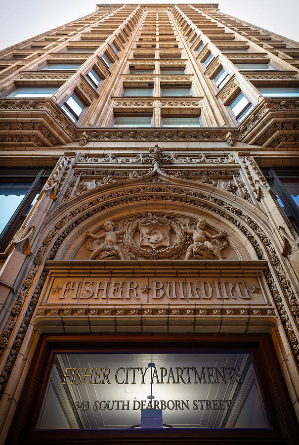 Chicago Photograph - Fisher Building Chicago by Steve Gadomski