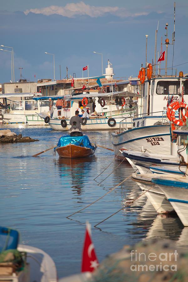 Harbour Photograph - Fisherman At Yumurtalik by Gabriela Insuratelu