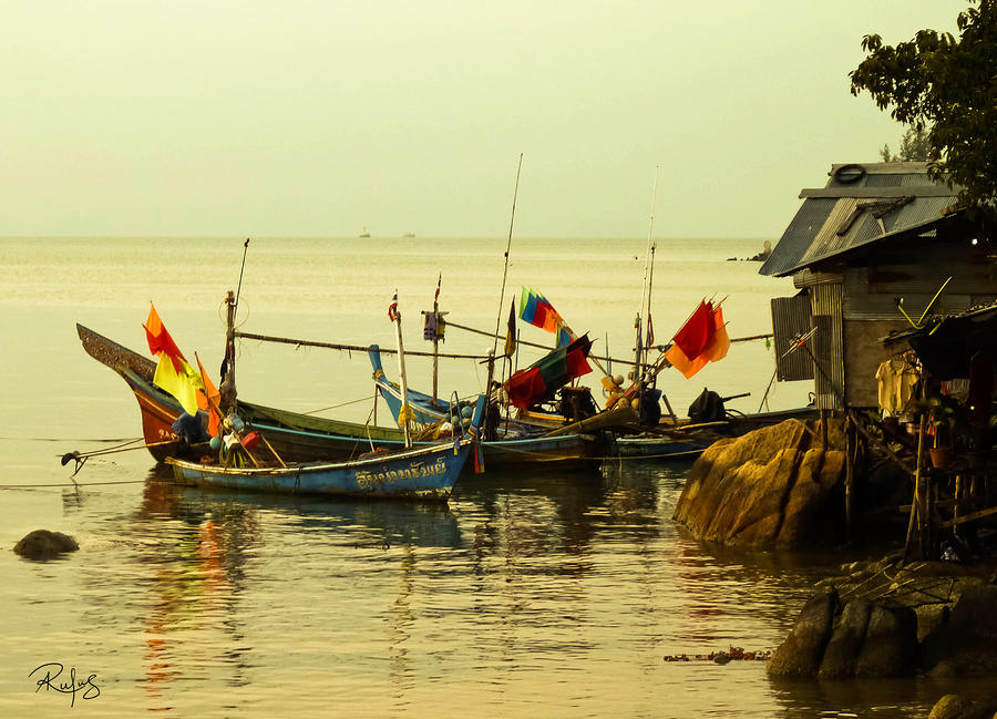 Thailand Photograph - Fisherman Boats by Allan Rufus