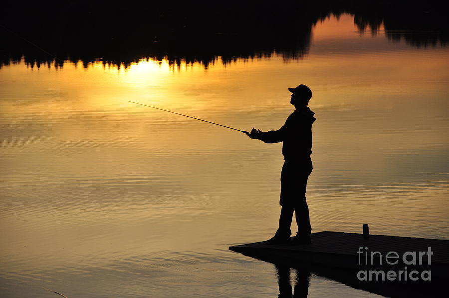 Angler Pyrography - Fisherman by Conny Sjostrom