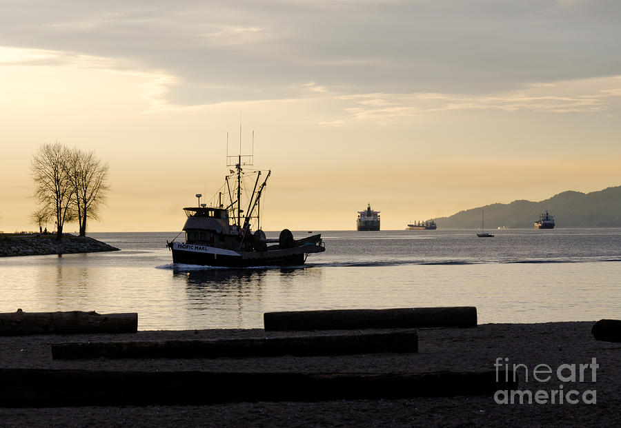 Fishing Photograph - Fisherman Home Returning To Port From The Inside Passage Vancouver Bc Canada by Andy Smy