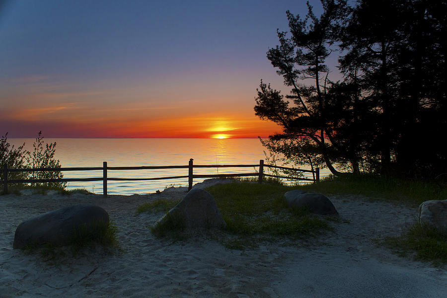 Michigan Photograph - Fishermans Island State Park by Megan Noble