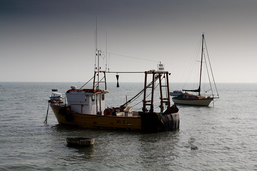 Fishing Photograph - Fishing Boat Essex by David Pyatt