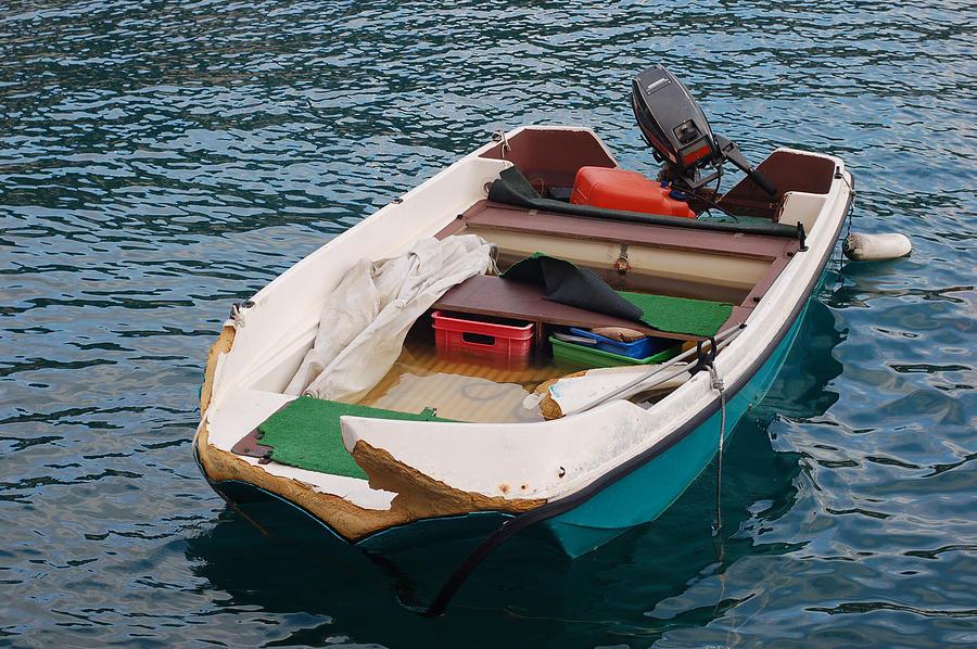 Fishing Boat In Nice France Digital Art